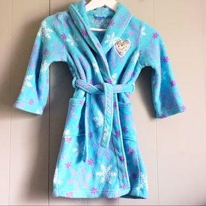 DISNEY Frozen Elsa Girl's Fleece Bathrobe Robe